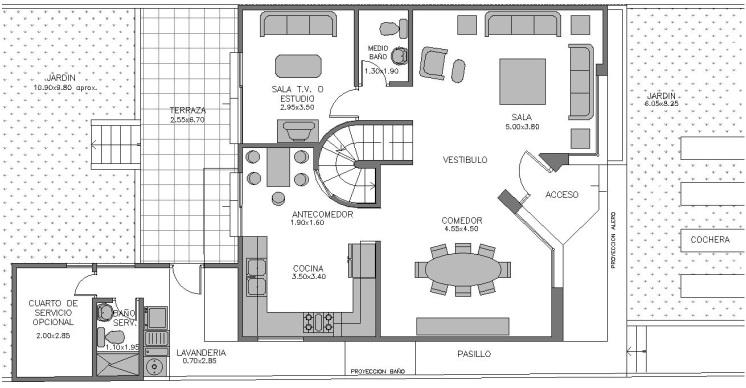 New page 1 for Distribucion de una casa de una planta